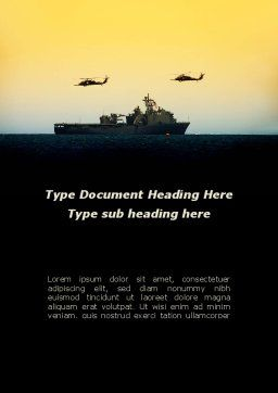 US Ship Tortuga Word Template, Cover Page, 09604, Military — PoweredTemplate.com