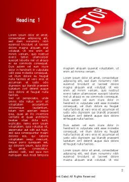 Stop Road Sign Word Template, First Inner Page, 09606, Consulting — PoweredTemplate.com