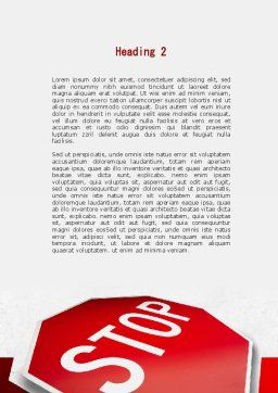 Stop Road Sign Word Template, Second Inner Page, 09606, Consulting — PoweredTemplate.com