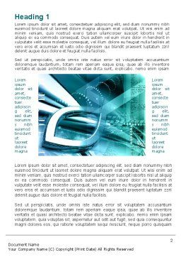 Aqua Constructions Word Template, First Inner Page, 09616, Technology, Science & Computers — PoweredTemplate.com