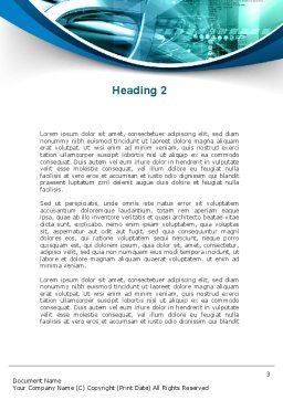 Aqua Constructions Word Template, Second Inner Page, 09616, Technology, Science & Computers — PoweredTemplate.com