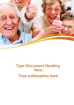 Aged People Word Template Cover Page