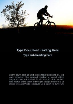 Bicycle Tour Word Template, Cover Page, 09619, Sports — PoweredTemplate.com