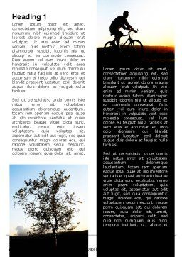 Bicycle Tour Word Template, First Inner Page, 09619, Sports — PoweredTemplate.com