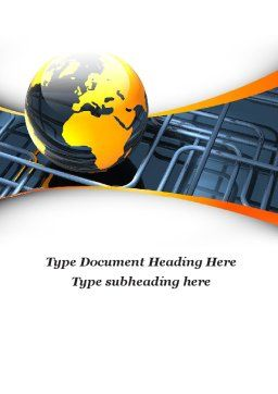 Global Pipeline Word Template, Cover Page, 09621, Careers/Industry — PoweredTemplate.com