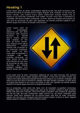 Two-Way Traffic Word Template, First Inner Page, 09622, Consulting — PoweredTemplate.com