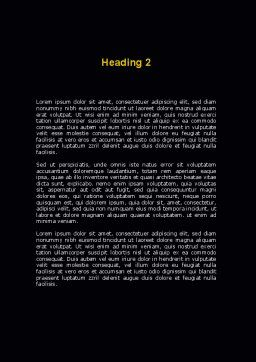 Two-Way Traffic Word Template, Second Inner Page, 09622, Consulting — PoweredTemplate.com
