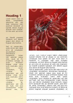 Artificial Nerve Center Word Template, First Inner Page, 09623, Medical — PoweredTemplate.com