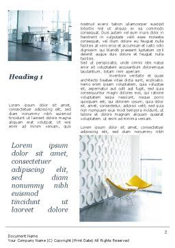 Modern Office Space Word Template, First Inner Page, 09624, Construction — PoweredTemplate.com