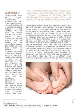 Baby Massage Word Template, First Inner Page, 09625, People — PoweredTemplate.com