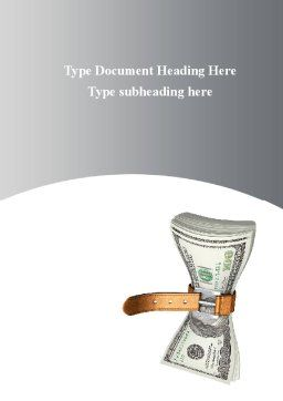 Sequester Word Template, Cover Page, 09626, Financial/Accounting — PoweredTemplate.com