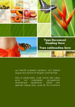 Exotic Island Vacation Word Template, Cover Page, 09627, Holiday/Special Occasion — PoweredTemplate.com