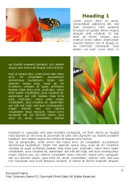 Exotic Island Vacation Word Template, First Inner Page, 09627, Holiday/Special Occasion — PoweredTemplate.com