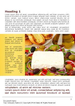 Country Meal Word Template, First Inner Page, 09629, Food & Beverage — PoweredTemplate.com