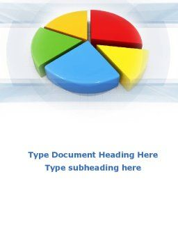 Pie Diagram In 3D Word Template, Cover Page, 09631, Business — PoweredTemplate.com