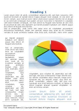 Pie Diagram In 3D Word Template, First Inner Page, 09631, Business — PoweredTemplate.com