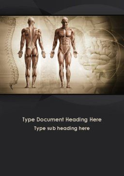 Male Body Anatomy Word Template, Cover Page, 09632, Medical — PoweredTemplate.com