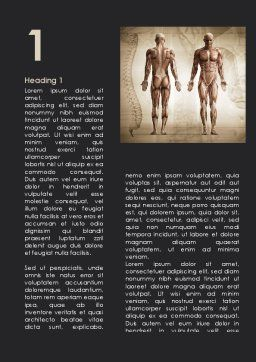 Male Body Anatomy Word Template, First Inner Page, 09632, Medical — PoweredTemplate.com