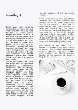 Brunch Businessman Word Template, First Inner Page, 09633, Business — PoweredTemplate.com