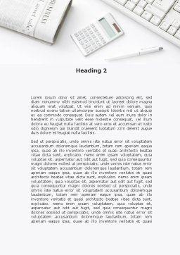 Brunch Businessman Word Template, Second Inner Page, 09633, Business — PoweredTemplate.com