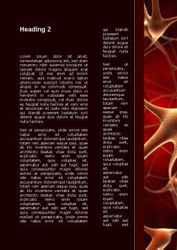 Nerve Cell Word Template, Second Inner Page, 09636, Medical — PoweredTemplate.com