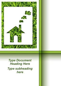 Green House Idea Word Template, Cover Page, 09640, Construction — PoweredTemplate.com