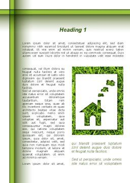 Green House Idea Word Template, First Inner Page, 09640, Construction — PoweredTemplate.com