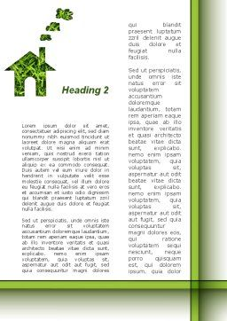 Green House Idea Word Template, Second Inner Page, 09640, Construction — PoweredTemplate.com