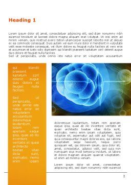 Molecular Forces Word Template, First Inner Page, 09642, Technology, Science & Computers — PoweredTemplate.com