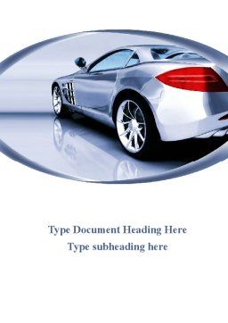Sports Car Design Word Template, Cover Page, 09643, Cars/Transportation — PoweredTemplate.com