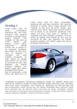 Sports Car Design Word Template, First Inner Page, 09643, Cars/Transportation — PoweredTemplate.com