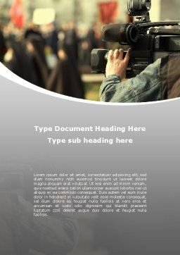 News Operator Word Template, Cover Page, 09646, Careers/Industry — PoweredTemplate.com