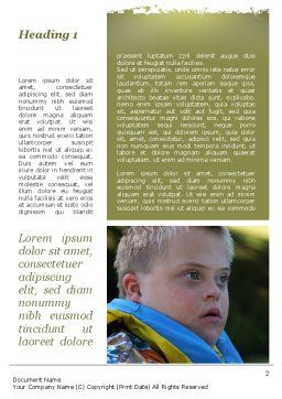 Mentally Challenged Boy Word Template, First Inner Page, 09648, People — PoweredTemplate.com