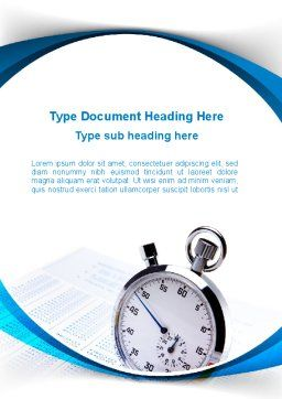 Time Management Tool Word Template, Cover Page, 09649, Consulting — PoweredTemplate.com