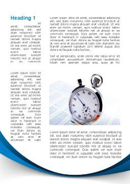 Time Management Tool Word Template, First Inner Page, 09649, Consulting — PoweredTemplate.com