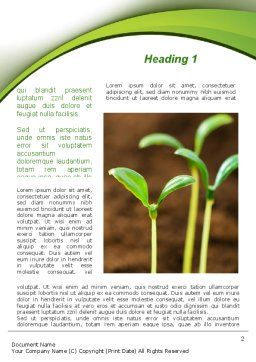 Young Shoots Word Template, First Inner Page, 09650, Agriculture and Animals — PoweredTemplate.com
