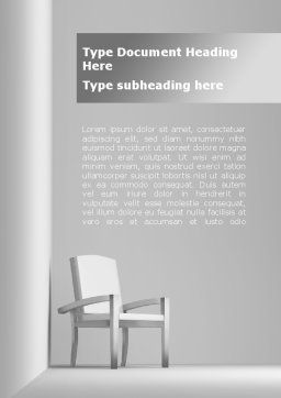 Chairman's Armchair Word Template, Cover Page, 09651, Construction — PoweredTemplate.com