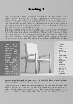 Chairman's Armchair Word Template, First Inner Page, 09651, Construction — PoweredTemplate.com