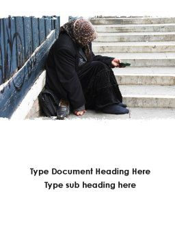 Beggar Word Template Cover Page
