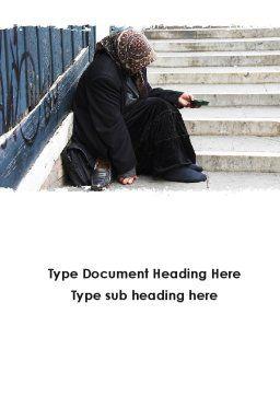 Beggar Word Template, Cover Page, 09652, Religious/Spiritual — PoweredTemplate.com