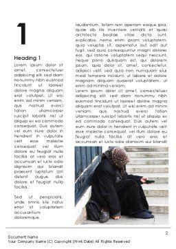 Beggar Word Template, First Inner Page, 09652, Religious/Spiritual — PoweredTemplate.com