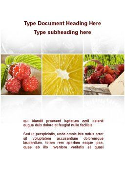 Vitaminized Berry Word Template Cover Page