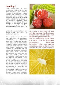 Vitaminized Berry Word Template First Inner Page
