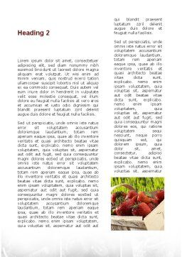 Vitaminized Berry Word Template Second Inner Page
