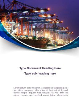 Port Of The Seas Word Template, Cover Page, 09655, Cars/Transportation — PoweredTemplate.com