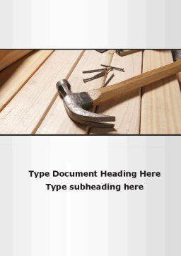 Carpenter's Tools Word Template, Cover Page, 09656, Construction — PoweredTemplate.com