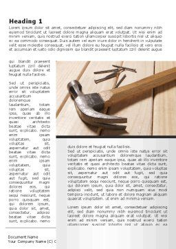 Carpenter's Tools Word Template, First Inner Page, 09656, Construction — PoweredTemplate.com