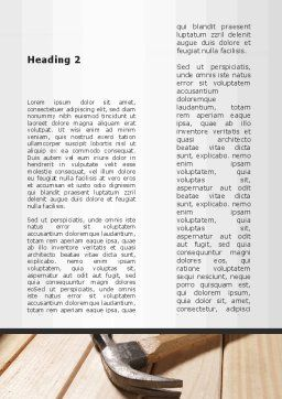 Carpenter's Tools Word Template, Second Inner Page, 09656, Construction — PoweredTemplate.com