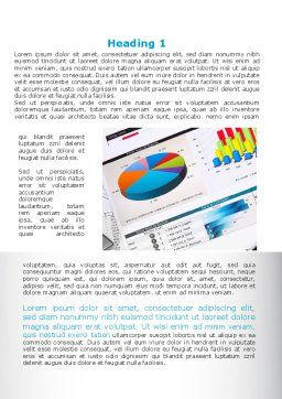 Pie Diagrams and Histogram Word Template, First Inner Page, 09661, Consulting — PoweredTemplate.com