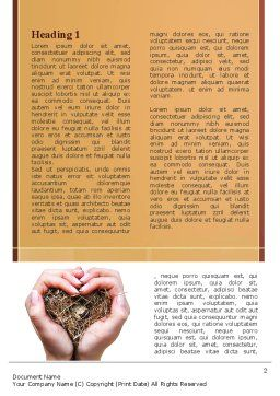 Bird's Nest Word Template, First Inner Page, 09662, Nature & Environment — PoweredTemplate.com